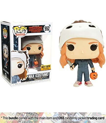 Funko Max [Costume] (Hot Topic Exclusive) POP! TV x Stranger Things Vinyl Figure + 1 American TV Themed Trading Card Bundle [#552] ()