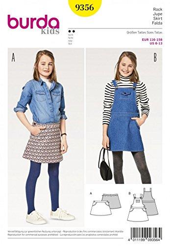 - Burda Girls Easy Sewing Pattern 9356 Skirt & Pinafore Dress