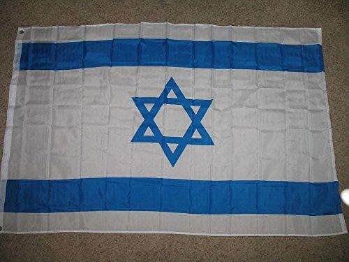 Israel Indoor Flag (Israel Israeli Jewish Flag 4x6 Foot Flag Banner (150 Denier) SuperPoly Indoor/Outdoor)