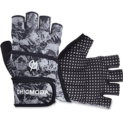 CHICMODA Women's Men's Weight Lifting Gym Gloves With 18″ Wrist Wrap, Anti-Slip Sport Gloves with Padded Palm Support for Exercise, Weightlifting, Fitness & Cross Training (1 Pair) – DiZiSports Store