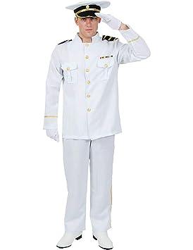 07a89c3bd39 Mens White Navy Captain Naval Officer Sea Sailor Uniform Fancy Dress  Costume Standard