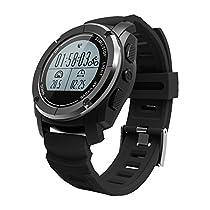 スマートウォッチ GPS搭載 登山 最適 男女兼用 高度計 気圧計 温度計...