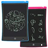 KURATU 2 Pack LCD Writing Tablet, 8.5 inch Electronic Drawing Pads for Kids, Portable Reusable Erasable Ewriter, Elder Message Board,Digital Handwriting Pad Doodle Board for School, Fridge or Office