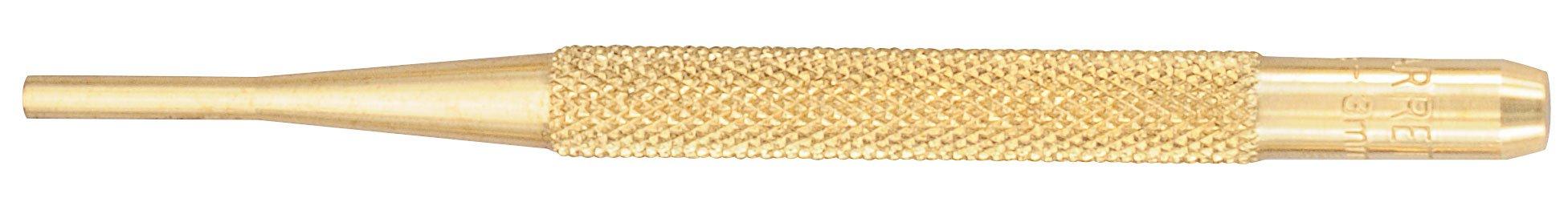 STARRETT Brass Drive Pin Punch,1//8 In Tip,4 In L B565C