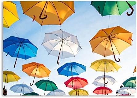 """Rutschfeste Design-Schreibunterlage """"Regenschirme"""" 70 x 50 cm, aus DA-Media in Premium-Qualität, Malunterlage, Schreibtischauflage, Schreibtischunterlage"""