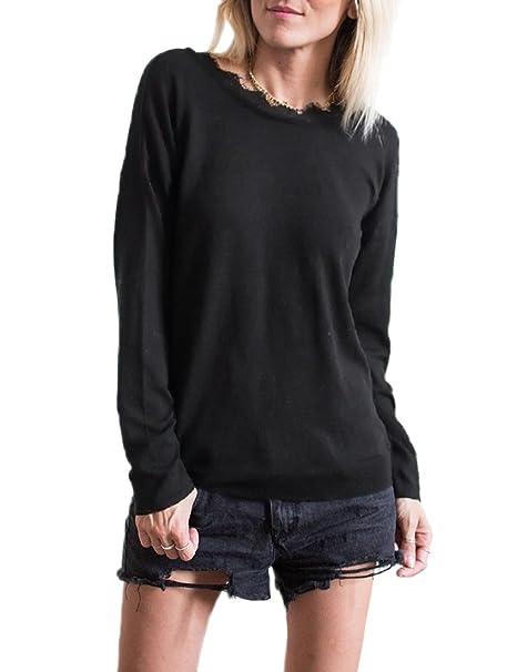Anself Blusas de Mujer de Moda 2017 Sexy Blusas Camiseta Mujer Negro/Blanco