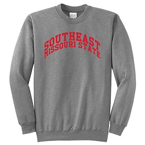 NCAA Southeast Missouri State Redhawks Arch Classic Crewneck Sweatshirt, Medium, Light Heather Grey (Missouri Light)