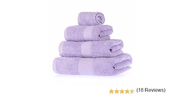 Homescapes Lote de 4 Toallas 100% algodón Turco, Color Negro (Cara ...