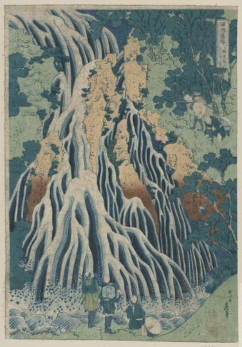 1920's Costumes To Australia (Japanese Print: Shimotsuke kurokami-yama kurifuri no taki)