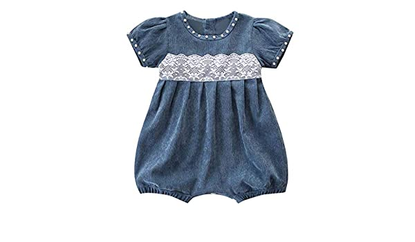 0d70034dd519 Amazon.com  ❤ Mealeaf ❤ Newborn Kids Baby Girl Outfit Clothes Corduroy Lace  Short Sleeve Romper Jumpsuit 3-24 Months  Clothing