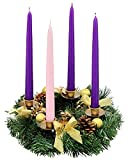 "Advent Candle Set. ""Made in the USA"" Self Fitting"