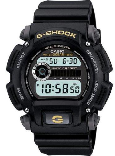Electro Luminescent Backlight - Casio Men's G-Shock DW9052-1BCG Black Resin Sport Watch