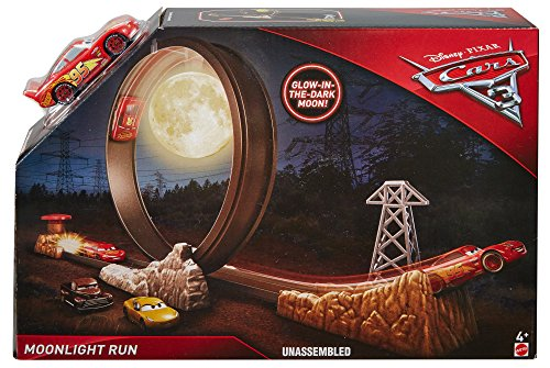 Disney Cars 3 Midnight Run Race Moon Loop Playset