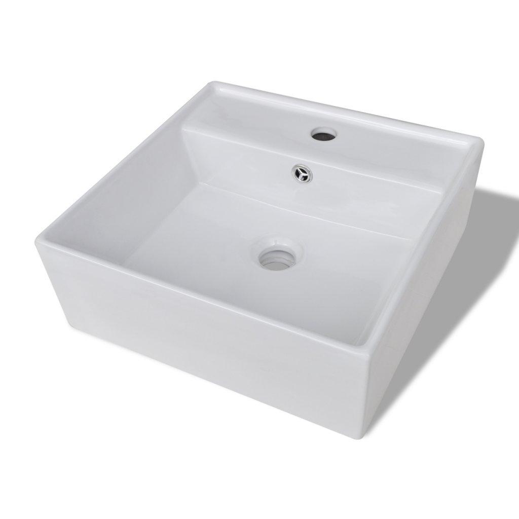 Daonanba Artisic Stylish Durable Luxury Ceramic Basin Oval with Overflow 23.2'' x 15.1'' Black