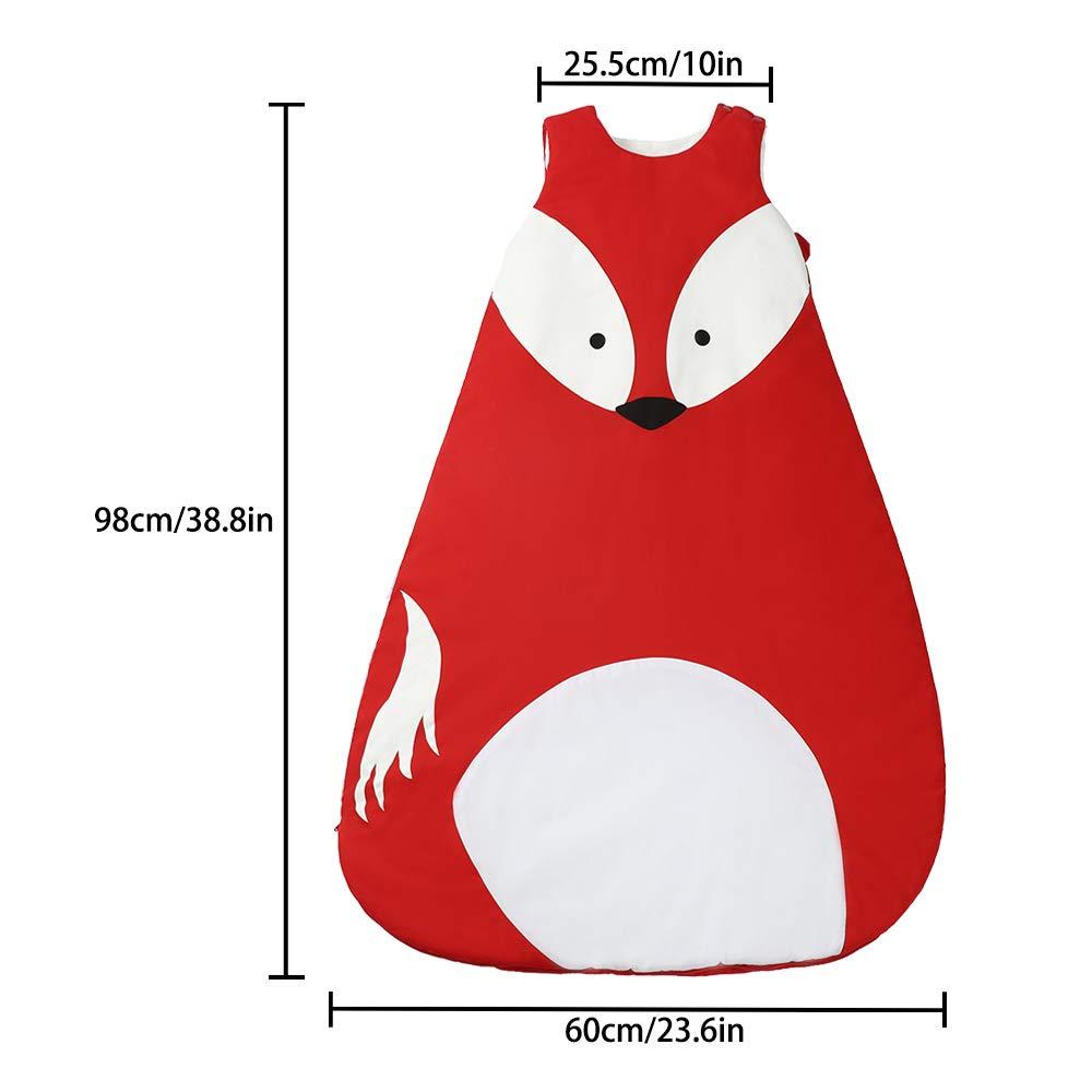 ni/ña pijamas para invierno 36 meses Fox-M Talla:85cm beb/é beb/é ni/ña Saco de dormir de algod/ón c/álido para beb/é saco de dormir para 0