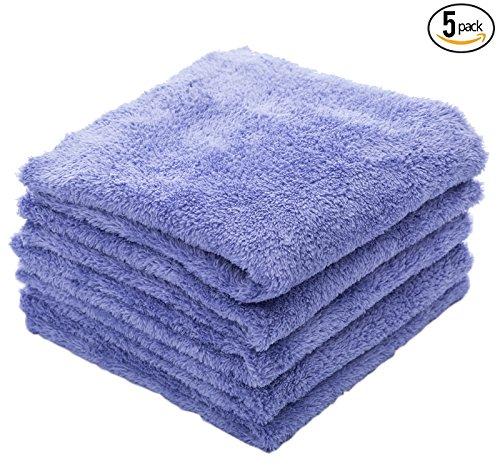 THE RAG COMPANY (5-Pack) EAGLE EDGELESS 350 Professional Korean 70/30 Super Plush 350gsm Microfiber Detailing Towels (16x16, (Chemical Sample Kit)
