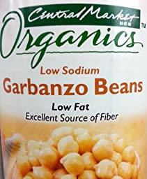 Central Market Organics Garbanzo Beans 15oz Can (Pack of 6)
