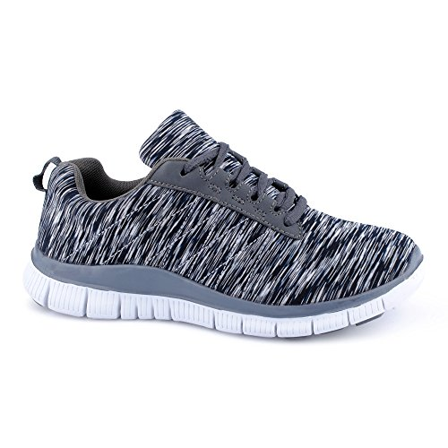 FiveSix Herren Damen Sneaker Sportschuhe Laufschuhe Freizeitschuhe Mehrfarbig Runners Fitnessschuhe Low Unisex Schuhe Schwarz-W