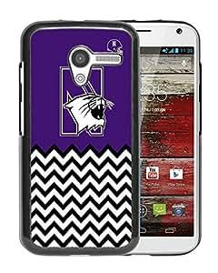 NCAA North Western Wildcats 4 Black Customize Motorola Moto X Phone Cover Case