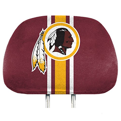 NFL Washington Redskins Full-Print Head Rest Covers, 2-Pack