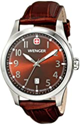 Wenger Men's 01.0541.119 Terragraph 3H Analog Display Swiss Quartz Brown Watch