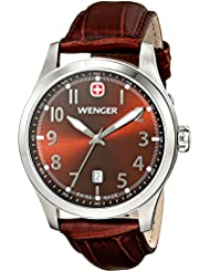 Wenger Mens 01.0541.119 Terragraph 3H Analog Display Swiss Quartz Brown Watch