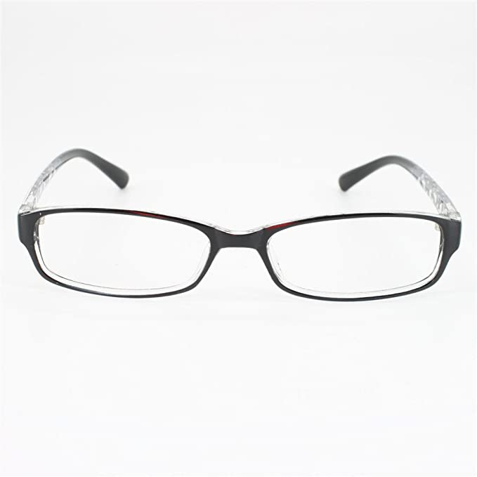 db60714b07 Amazon.com  EyeBuyExpress Rectangle Black Reading Glasses Magnification  Strength 0.25  Health   Personal Care