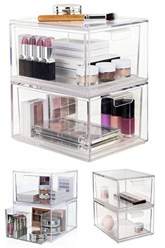 Generic .. Box Display Organizer Drawer e Organizer Drawer Case Cl Acrylic Cosmetic Makeup Acryl Case Clear orage Jewelry Storage Cosmetic Box Display