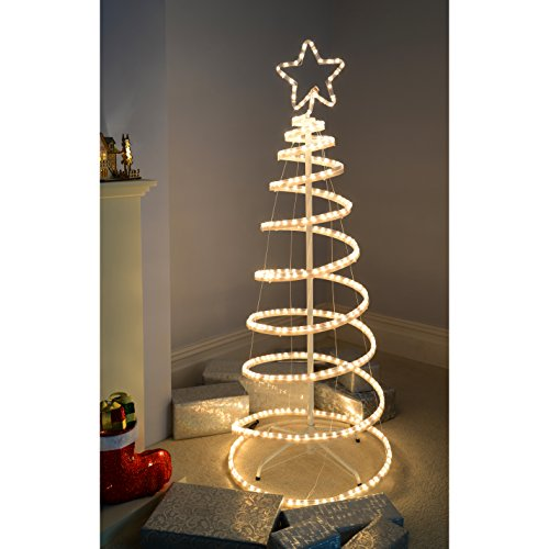 Spiral christmas tree amazing spiral rope light christmas tree cool flashing d spiral christmas tree rope light silhouette feet cm white amazoncouk garden u outdoors with spiral christmas tree aloadofball Choice Image