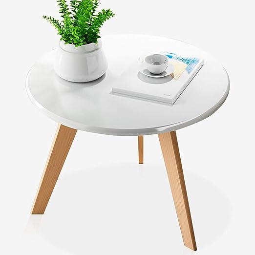 Moderna Mesa de Café Moda creativa nórdica redonda pequeña mesa de ...