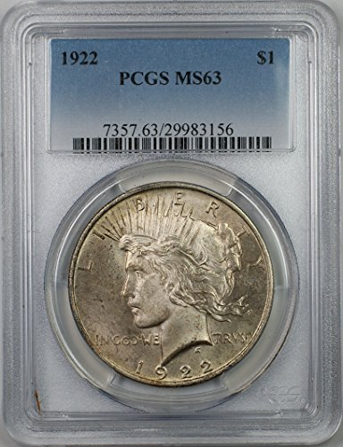 1922 Peace Silver Dollar Coin $1 PCGS MS-63 (1I)