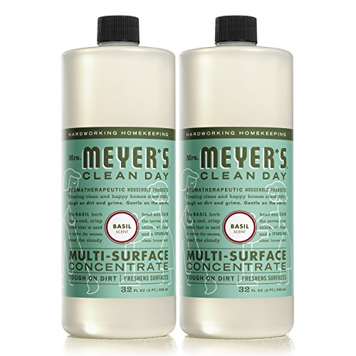 Surface Cleaner Concentrate (MRS MEYERS Multi-Surface Concentrate, Basil, 32 Fluid Ounce (Pack of 2))