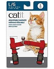 Catit Nylon Adjustable Cat Harness, Large, Red