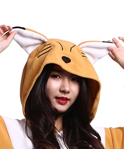 Pigiama Unisex Onesies Orange Fox Kigurumi Animale Adulto xUz4qwWUIF