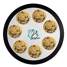 Round 15 Inch Non-Stick Silicone Baking Mat for Pizza Pans Made by Mrs. V\'s Kitchen