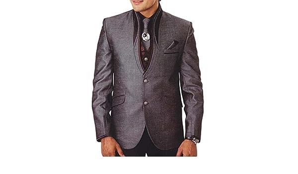 INMONARCH Smoking traje gris Hombres 7 Pc de acoplamiento ...