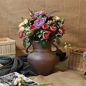 Amazon.com: foundfun Large Artificial Flower Desktop