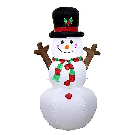 BESTOYARD - Figura Hinchable de muñeco de Nieve para decoración de ...