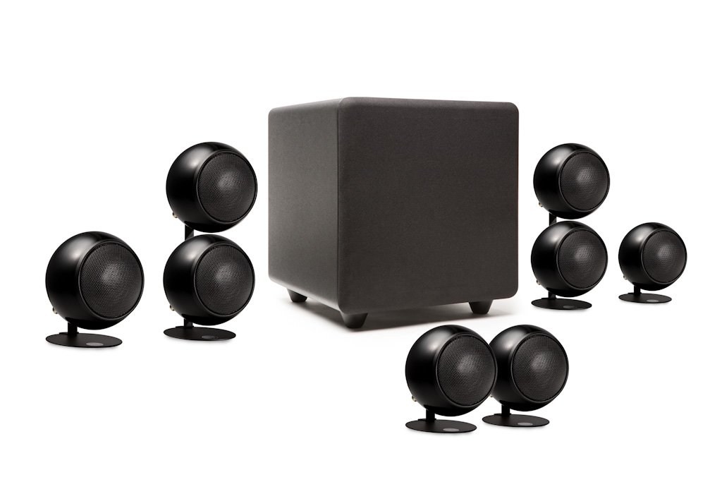 Orb Audio 5.1 People's Choice Home Theater Speaker System in Metallic Black