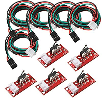 BuildPi (5 Piece Kit) Mechanical End-Stop Limit Switch with harness for 3D Printer Makerbot Prusa CNC Arduino Raspberry Pi