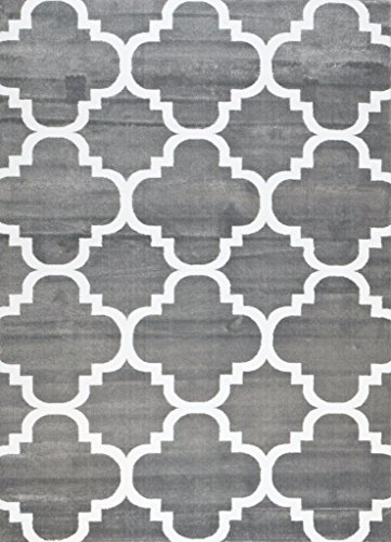 4518 Gray Moroccan Trellis 7 10x10 6 Area Rug Carpet Large