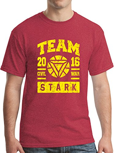 Team Stark Civil War T-Shirt XMen Superhero Spider Iron Tee HR M