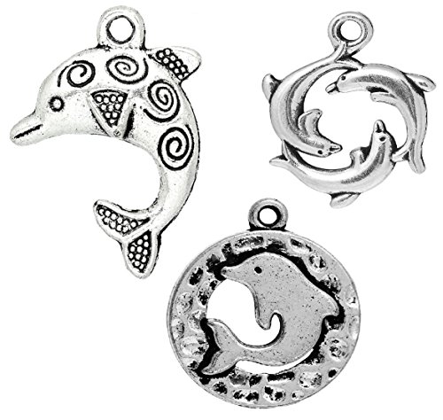 Porpoise Earring (Dolphin Pendant Charms 90 Pack (30 of Each) - DIY Crafts, Jewelry Making)