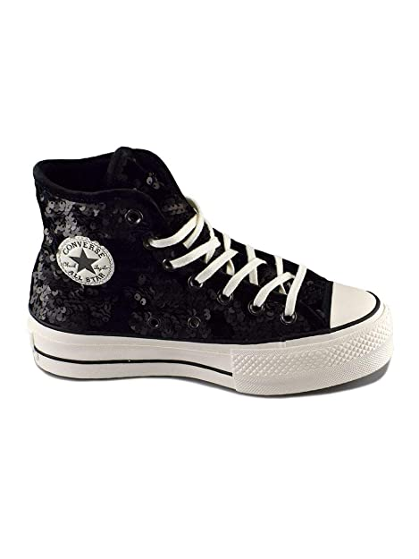 Converse Chuck Taylor CTAS Lift Hi, Zapatillas para Niñas, Snow White/Black 001