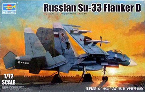 Su 27 Russian Air (Russian Su-33 Flanker D 1/72 Aircraft Model Kit)