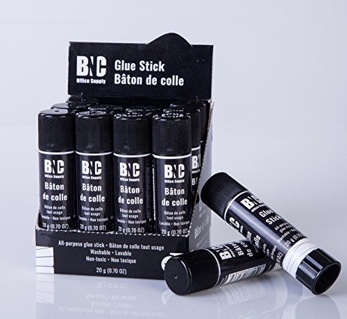 BNC Washable All-Purpose School Glue Stick, 20 Gram, Pack of 12 by BNC Office Supply (Image #9)'