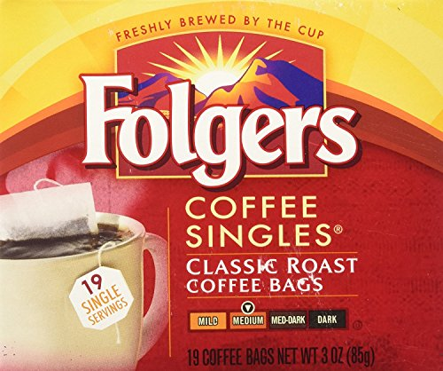 Folgers Coffee Singles (19 per box)
