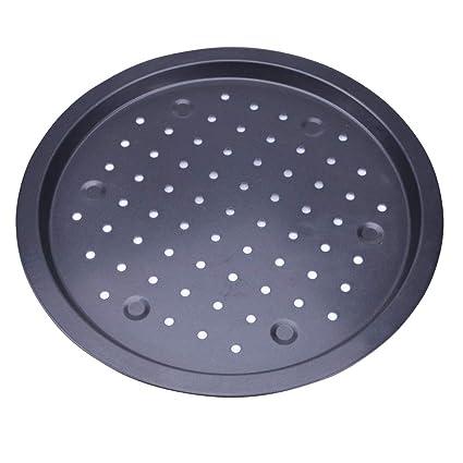 Amazon.com: 14 Inch Non Stick Pizza Crisper Tray Baking Pan ...