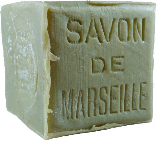 (Authentic Traditional Savon De Marseille Olive Cube Stamped 600g - Handcrafted Pure Olive Oil French Soap)