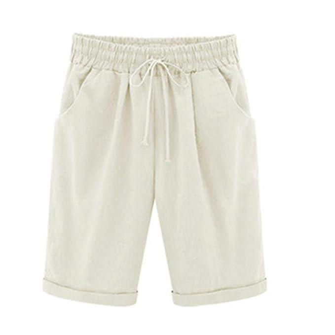 21de29baba8e70 Hosen Damen Kolylong® Frauen Elegant Bandage Hohe Taille Hose Kurze  Einfarbig Bermuda Shorts Strand Hosen
